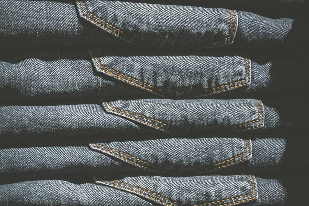uppstaplade jeans